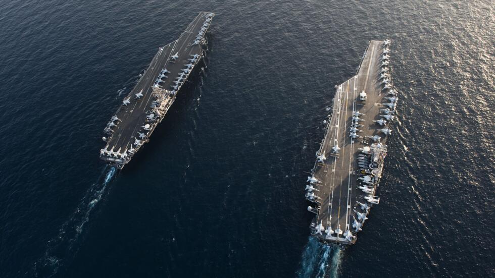 """什么戏?蓬佩奥满口""""不想要战争"""",美国军舰和轰炸机靠近伊朗集结"""