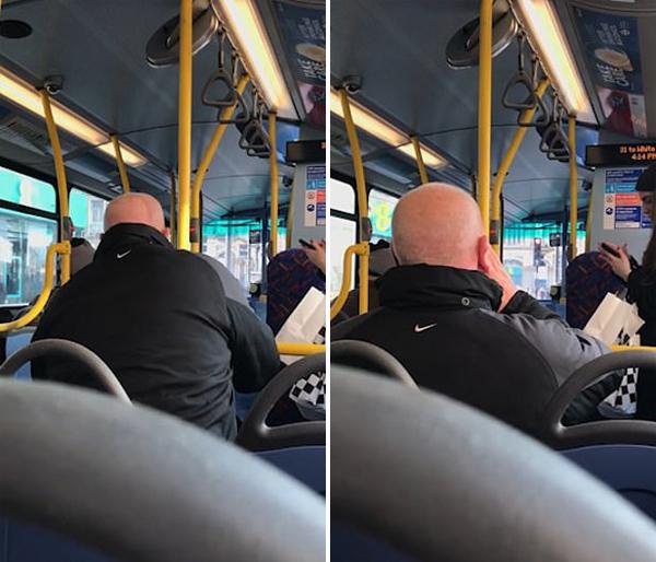 伦敦70岁乘客大骂公交车司机 威胁称将其揍扁