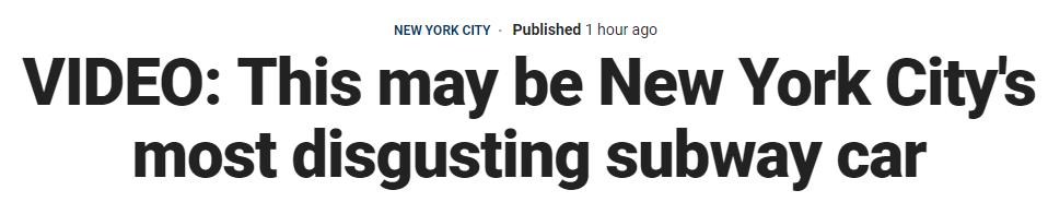 纽约最脏地铁车厢火了!网友:作为中国人,我笑了...