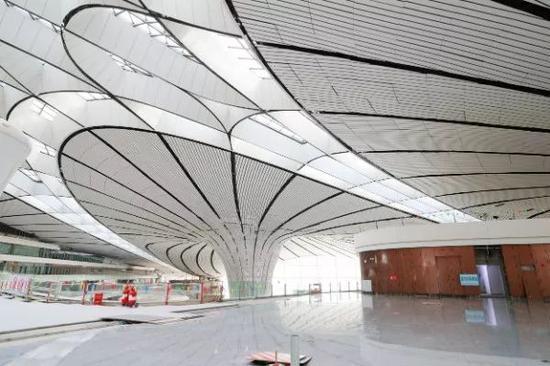 △北京大兴国际机场内景