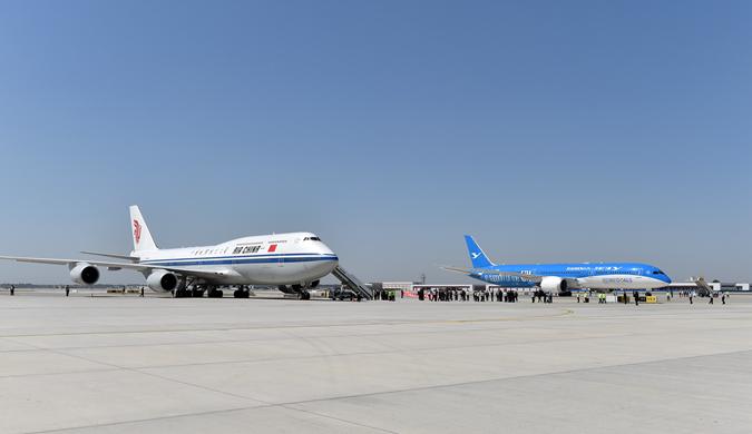 北京大兴国际机场首迎四架真机 王牌机组执飞试飞任务