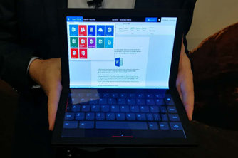 联想推出全球首款折叠屏电脑