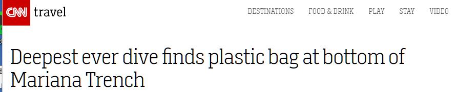 美探险家在马里亚纳海沟打破深潜记录,却带回沮丧消息:那有塑料袋