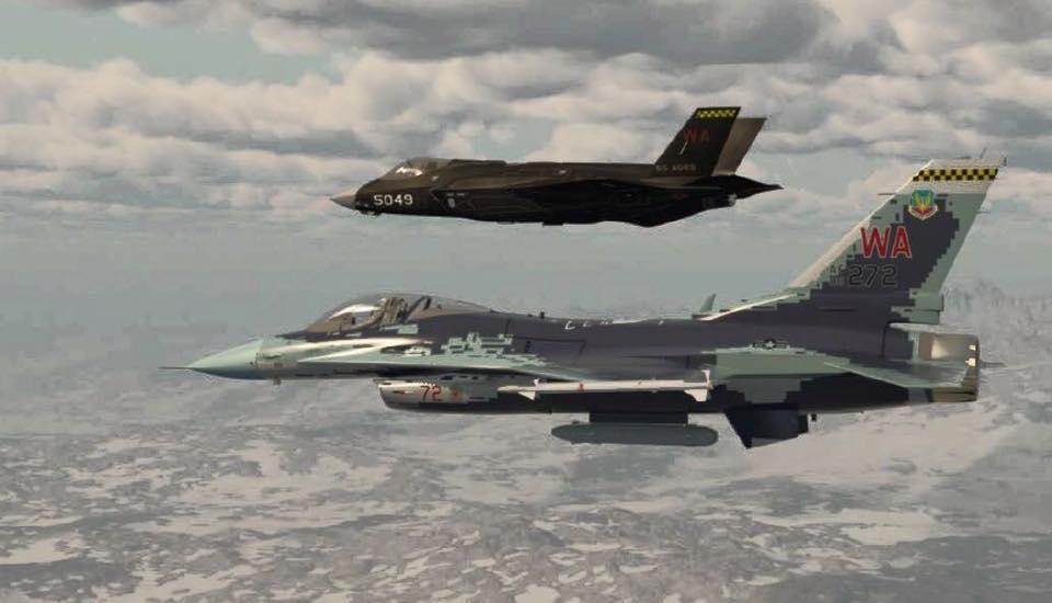35模拟歼31?美空军组建五代机假想敌中队