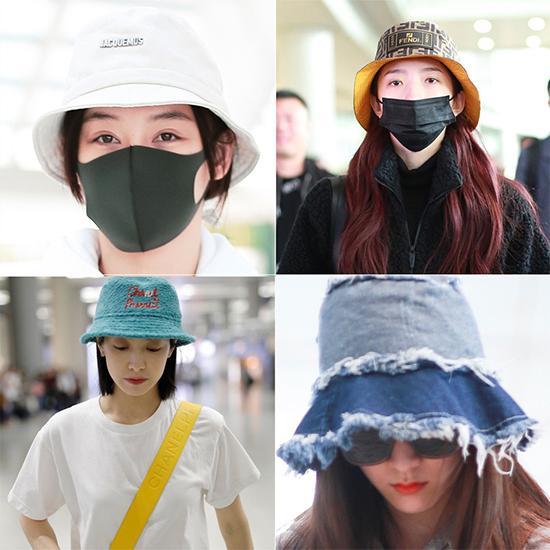 袁姗姗、迪丽热巴都爱的瘦脸神器,只是这款渔夫帽