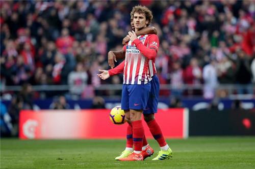 马竞前锋格列兹曼赛季后离队巴萨成最热门下家