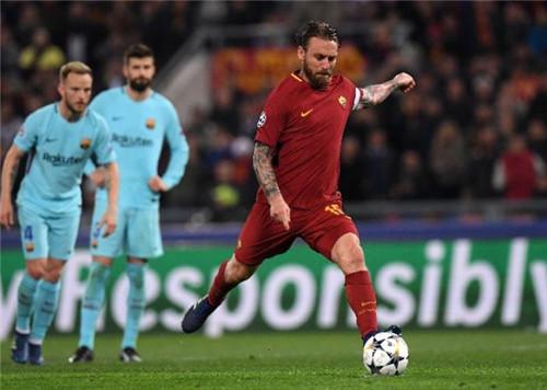 罗马官方:功勋老臣德罗西赛季结束后将离队