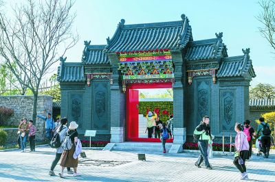 关注 | 北京世园会山西大院花鼓迎客
