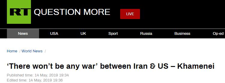 哈梅内伊:伊朗和美国不会开战 也不会有新核协议