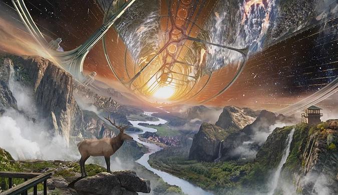 贝佐斯畅想在太空建造自给自足人类栖息地