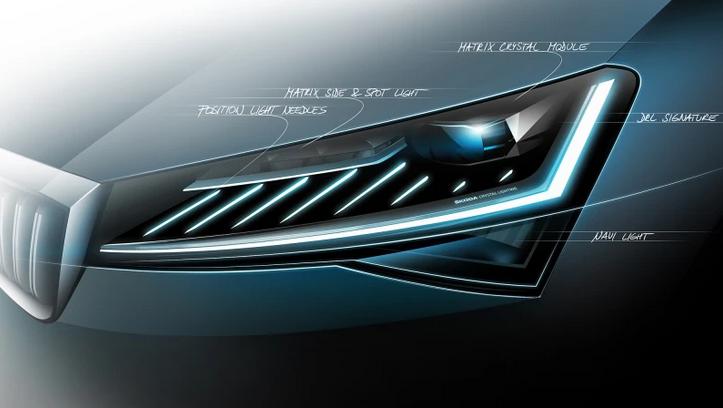 斯柯达新速派采用矩阵式LED大灯