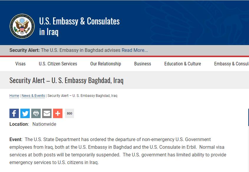 吉林快三今天走视图:美外交人员撤离伊拉克:因发现针对性绑架计划