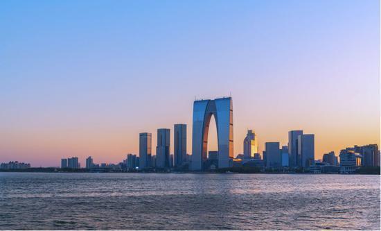 苏州金鸡湖 图片来源:摄图网