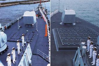 万吨就是任性!055和052D驱逐舰前甲板垂发对比