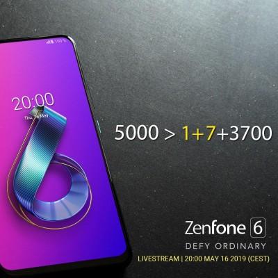华硕Zenfone 6即将发布 发文讽刺一加7电池容量