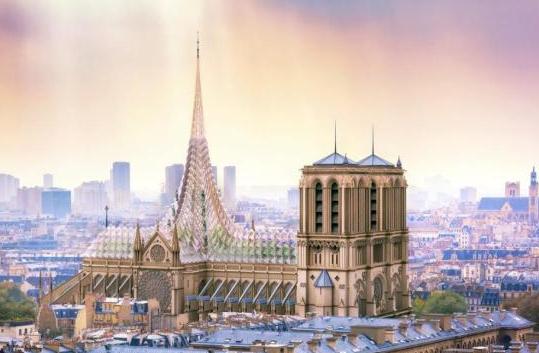巴黎圣母院如何重建?有设计师提议楼顶盖泳池