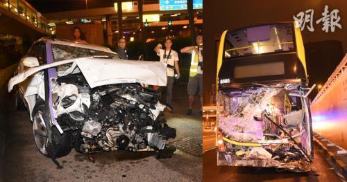 香港红隧3车相撞至少11人受伤 一司机涉酒驾被捕