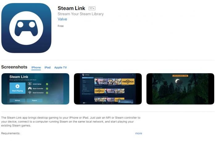 移动端畅玩PC大作 Steam Link正式登陆iOS商店
