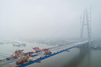 长江上最宽大桥-青山长江大桥合龙贯通