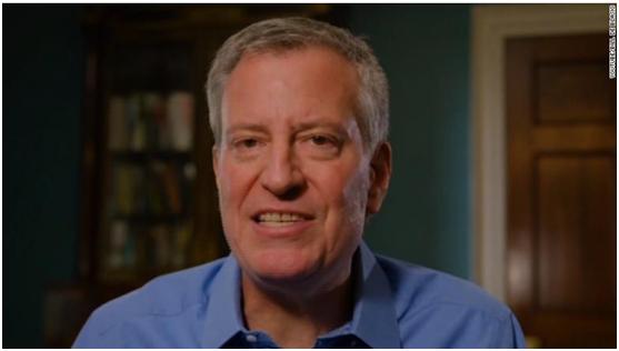 纽约市长宣布参加大选,特朗普飞机上录视频嘲讽:你还是回纽约吧