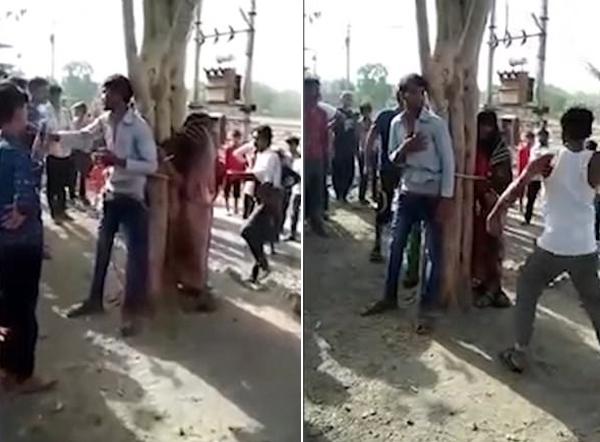 印男子组织村民将妻子情人及其表姐妹绑树上施暴