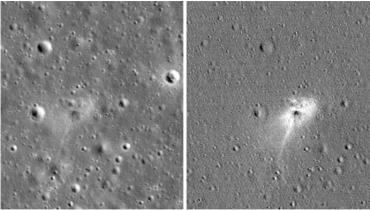 NASA公布以色列飞船登月坠毁现场图,网友:史上最贵刮蹭!
