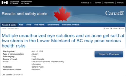 使用有风险!4款日本网红眼药水被加拿大下架召回