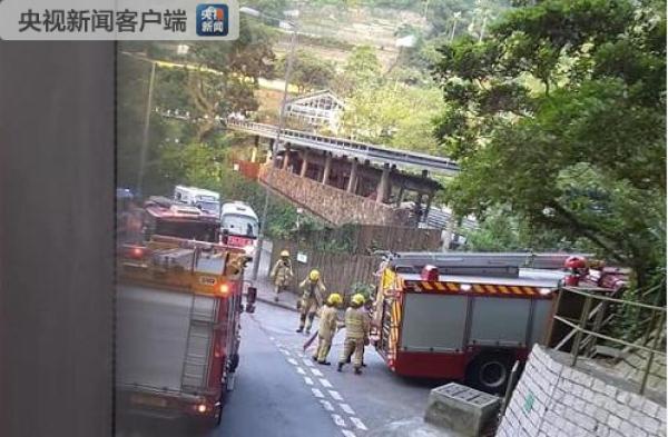香港新界嘉道理农场内一架直升机坠毁,已致1人死亡