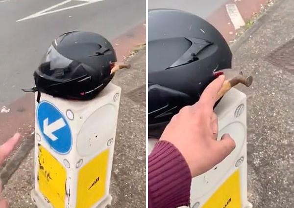 男子遭暴力抢劫摩托车 英勇司机驾车帮其追回