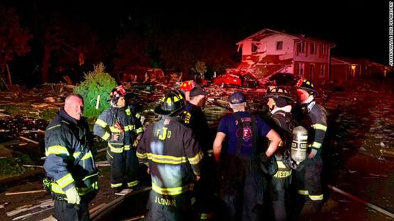 美国印第安纳州一民宅爆炸 造成1人死亡2人受伤