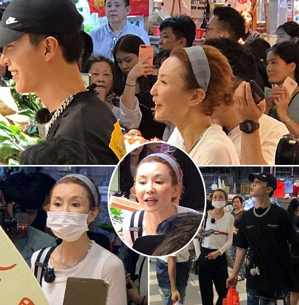 """张曼玉素颜出山录节目 与""""小鲜肉""""现身菜市场"""