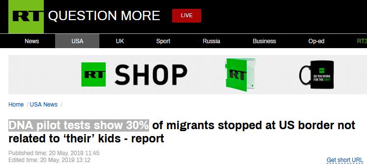 美边境被捕移民接受DNA检测,近三成与携带儿童无血缘关系