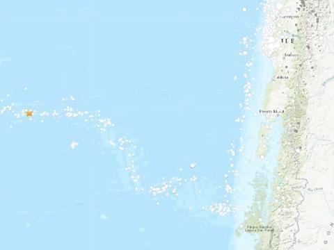 智利西部海域发生5.3级地震 震源深度10公里