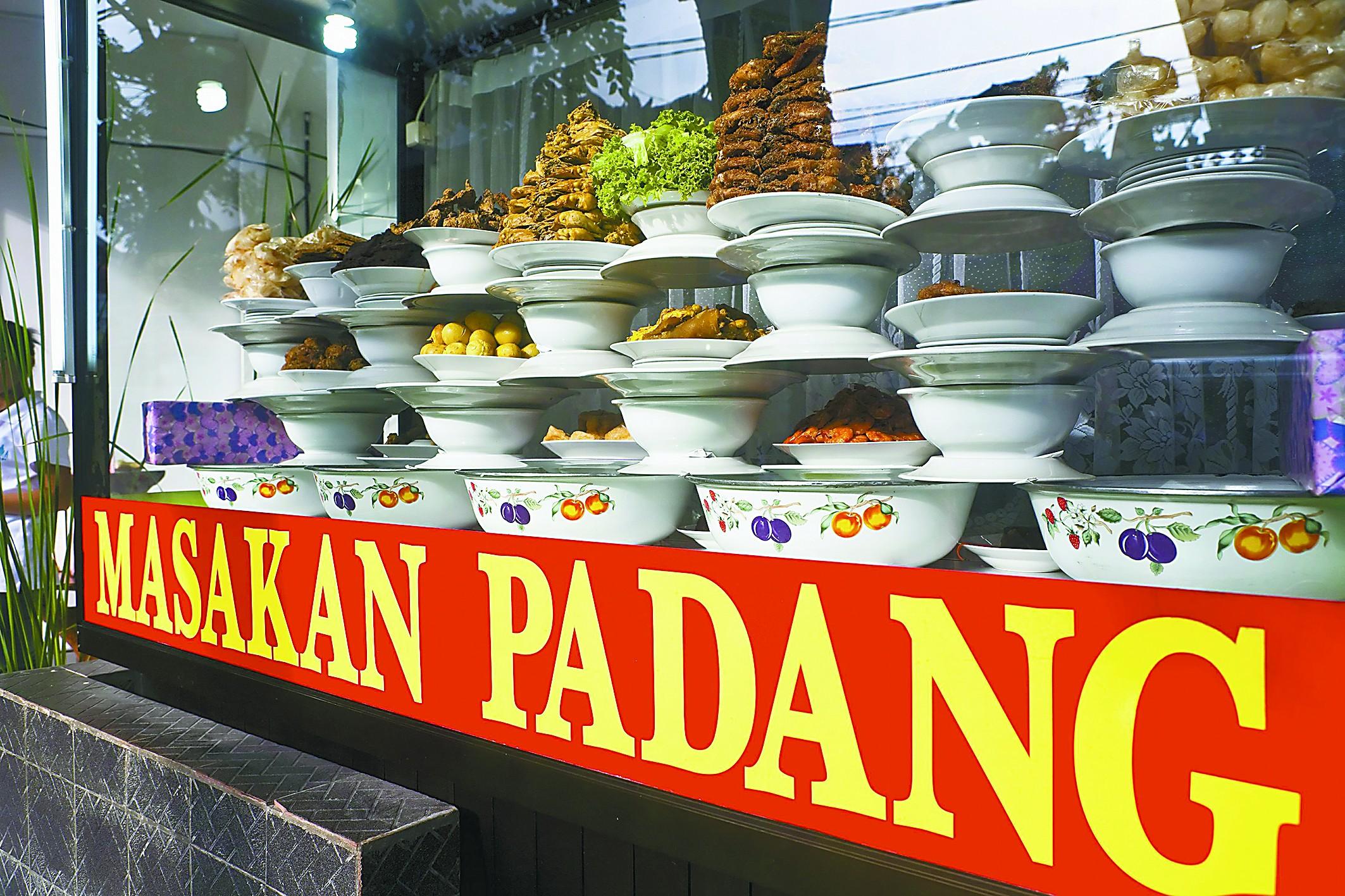 """印尼巴东菜论""""块""""卖"""