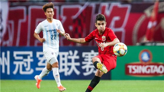 亚冠小组赛:上港5-0蔚山