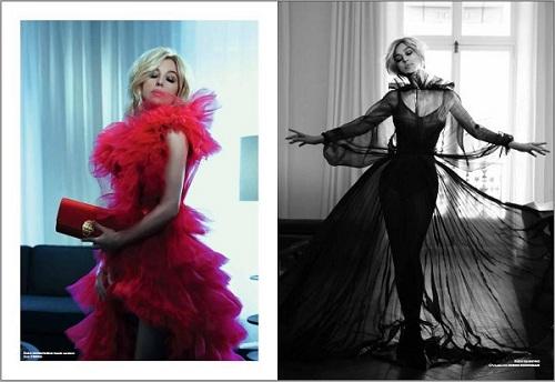 国际巨星莫妮卡·贝鲁奇佩戴萃华手包登上法国著名时尚杂志