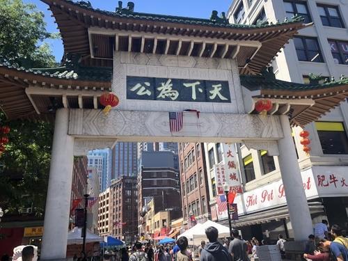 中国侨网美国波士顿市长伟殊公布2020至2024财年投资规划提案中,开发华埠和市中心地区的细则。(美国《世界日报》/刘晨懿之 摄)