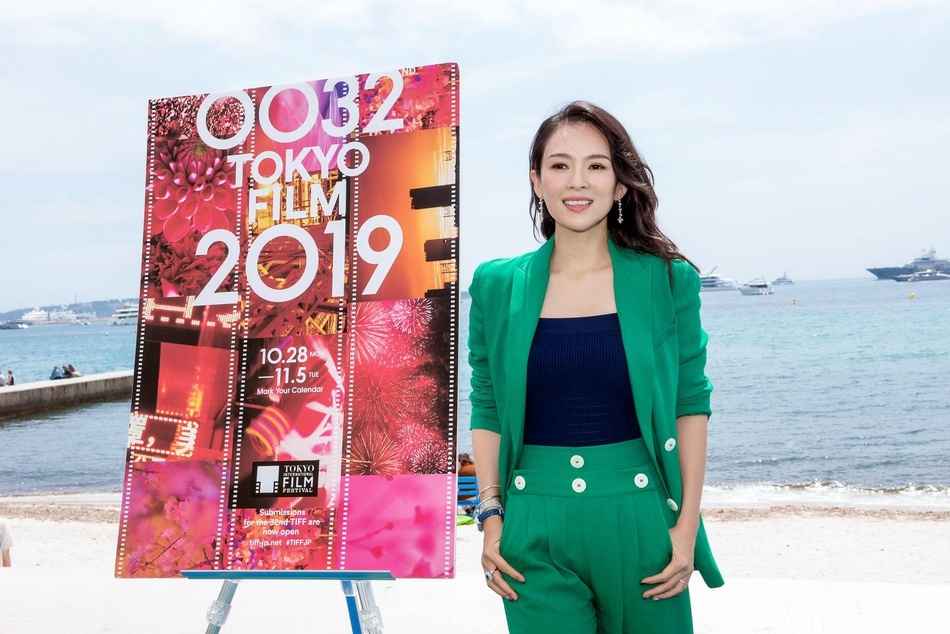 章子怡绿色套装活动表态 宣布担负东京片子节评委主席