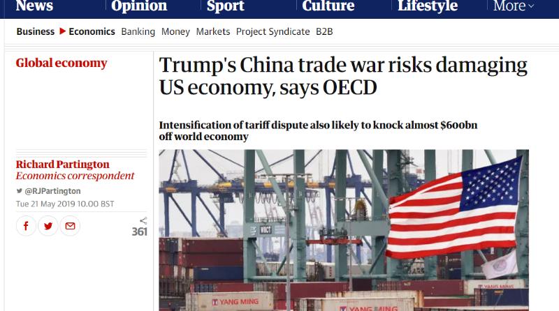 外媒:打压中国能带回就业岗位?美网友:真没看到