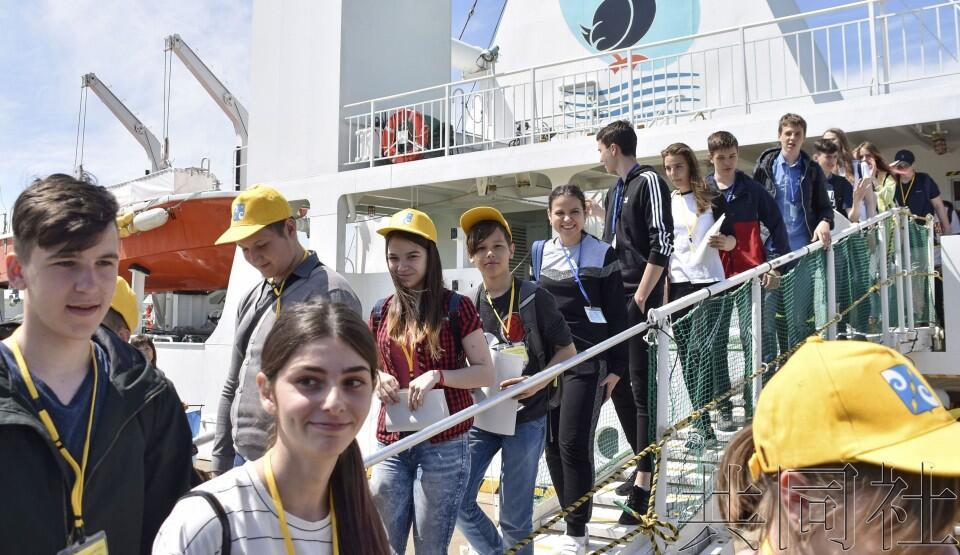 免签证交流俄方访问团抵达日本北海道根室港