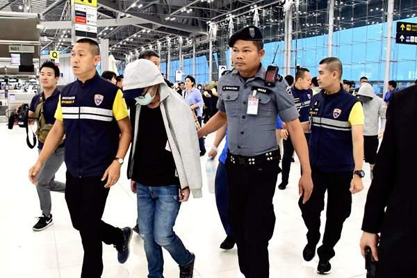 日本15名电信诈骗犯遭泰国遣返 涉案金额超2亿日元