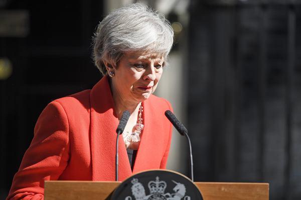 官宣!英国首相特雷莎·梅含泪宣布将于6月7日辞职