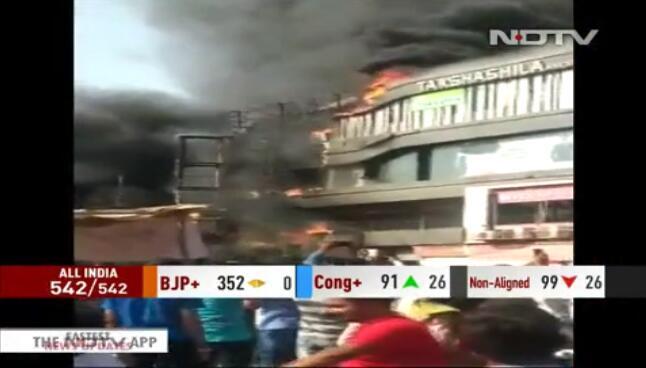 印度一培训中心发生火灾:至少15名学生死亡,多人跳楼逃生