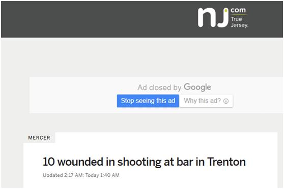 美新泽西州特伦顿市一酒吧发生枪击事件,10人受伤