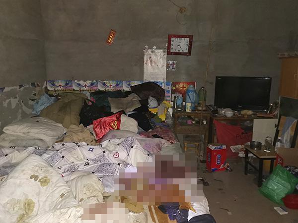 小丽父母被杀害的卧室