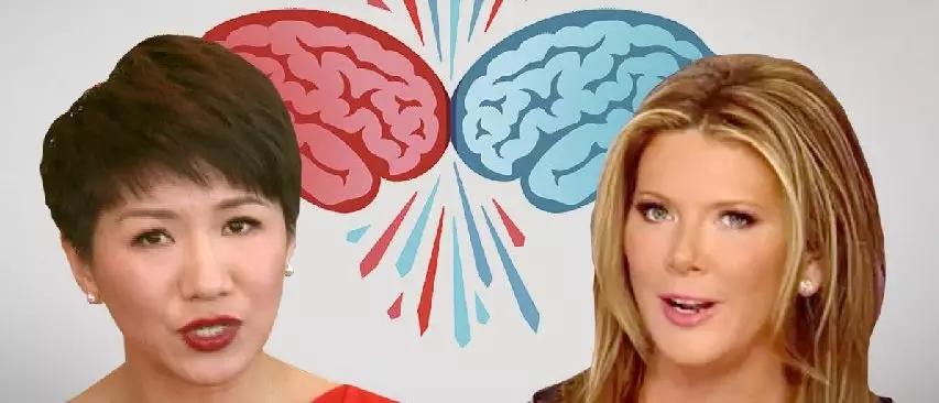 跟CGTN女主播刘欣约辩的美国女主播,什么来头?
