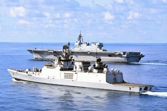 日印舉行海上軍演 印度隱身艦護衛出云號準航母
