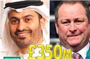 3.5亿镑!曼城老板堂兄将收购纽卡 英超要重新洗牌