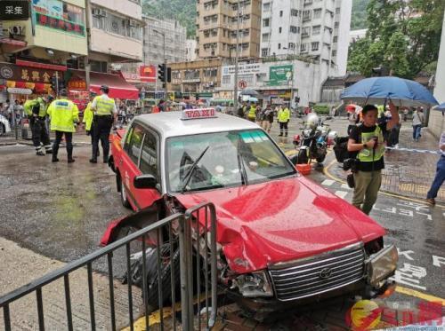 香港仔大道车祸致10人受伤 疑因出租车刹车系统失灵