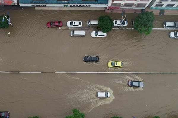广西罗城遭暴雨袭击